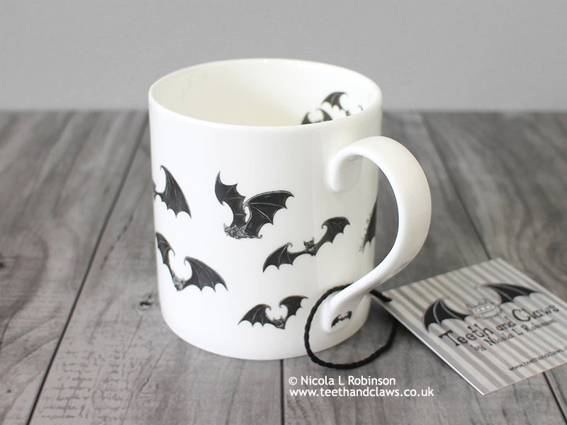 Bat Mug - English Fine Bone China Mug © Nicola L Robinson | Teeth and Claws