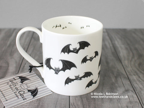 Bat mug © Nicola L Robinson | Teeth and Claws