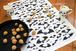 Gothic Bats Organic Cotton Tea Towel © Nicola L Robinson | Teeth and Claws