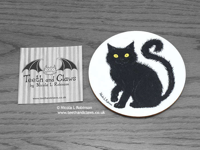 Cat Coaster - Black Cat