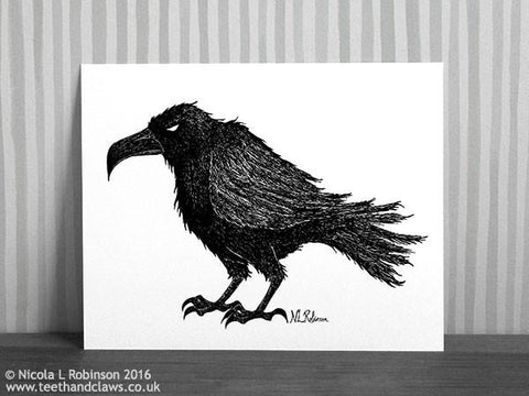 Crow Art Print Up