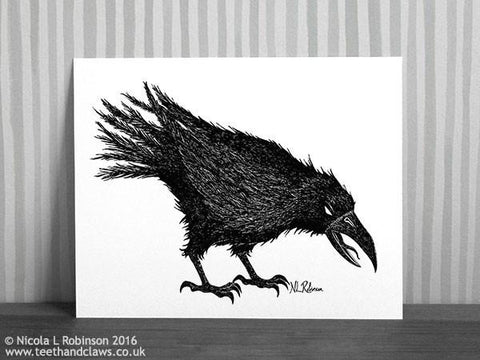 Crow Art Print Down