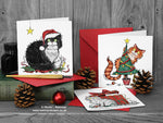 Cat Christmas Cards - Set of 6 Festive Cats