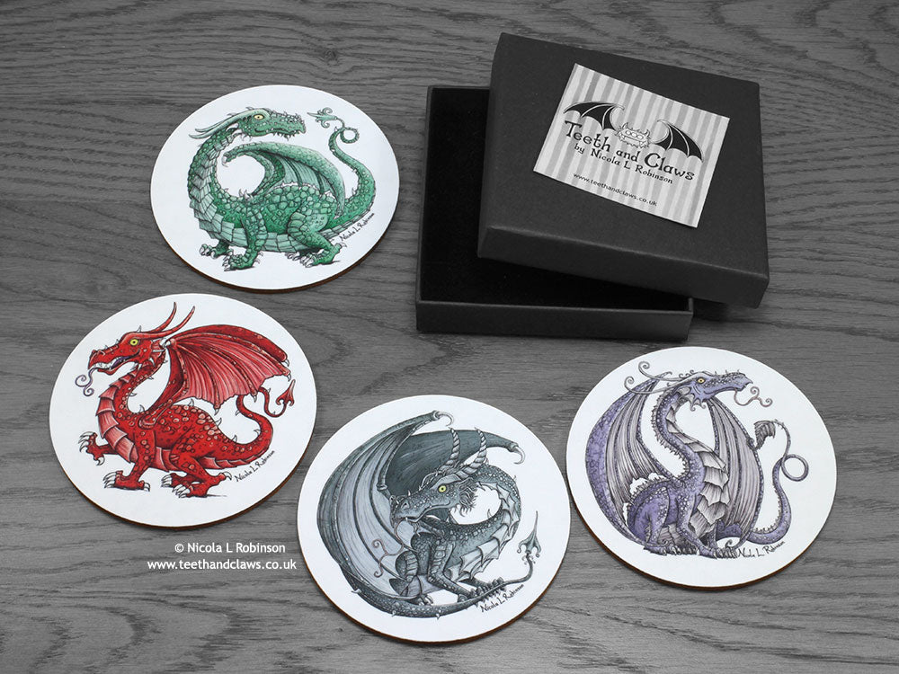 Dragon Coasters © Nicola L Robinson | www.teethandclaws.co.uk