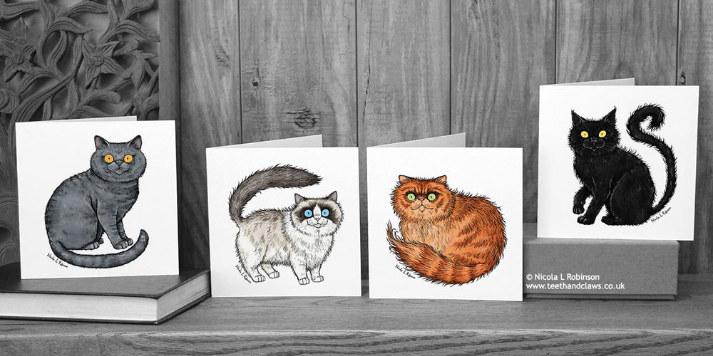 Set of Cat cards © Nicola L Robinson | Teeth and Claws
