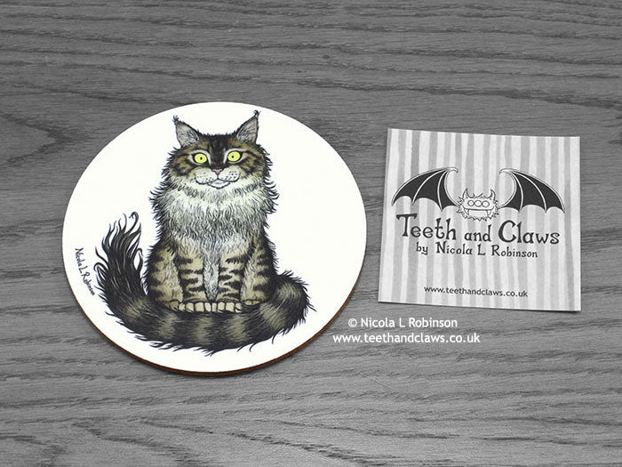 Cat Coaster - Maine Coon Cat