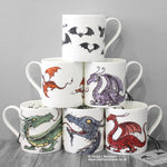 English Fine Bone China Dragon Mugs © Nicola L Robinson | Teeth and Claws