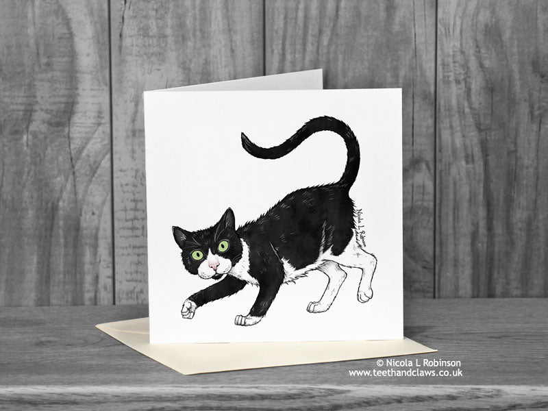 Cat Greeting Card - 'Oliver'