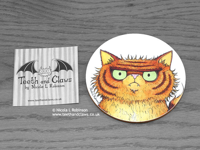 Cat Coaster - Persian Cat Portrait