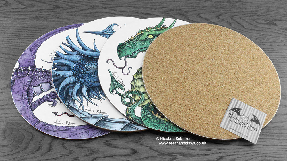 Dragon place mats © Nicola L Robinson | www.teethandclaws.co.uk