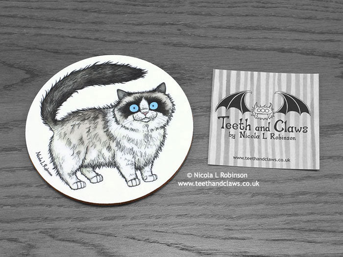 Cat Coaster - Ragdoll Cat