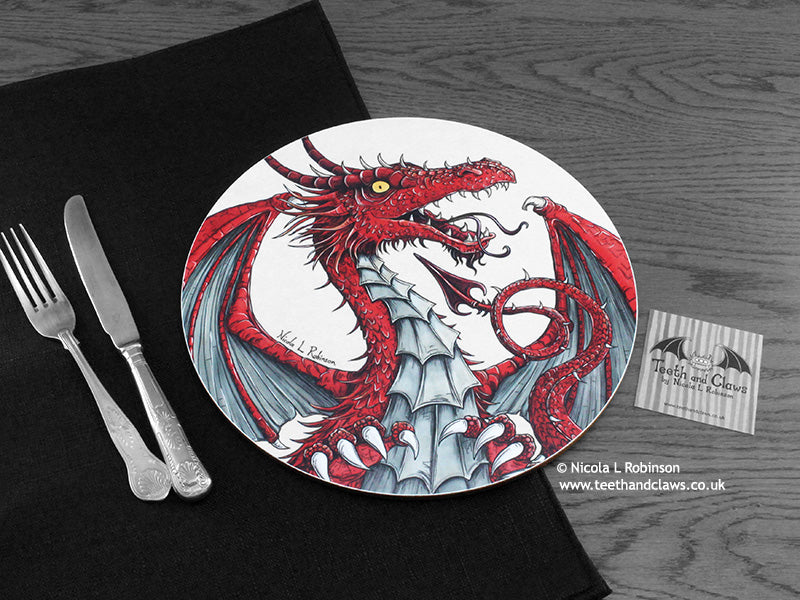 Dragon place mat © Nicola L Robinson | www.teethandclaws.co.uk