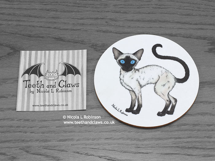 Cat Coaster - Siamese Cat