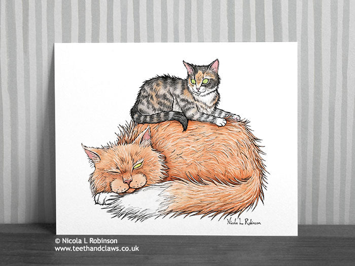 Sleeping Cats Print
