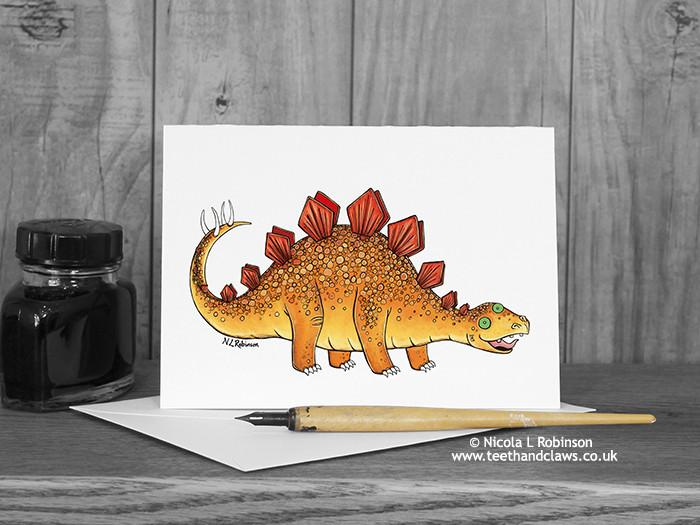 Dinosaur Greeting Card - Stegosaurus