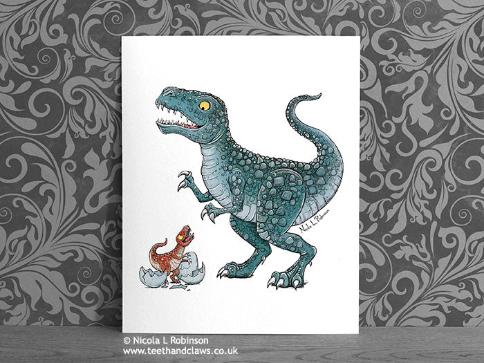 Dinosaur Print - T Rex Daddy © Nicola L Robinson | Teeth and Claws www.teethandclaws.co.uk