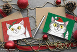 Cat Christmas Cards © Nicola L Robinson www.teethandclaws.co.uk - Cat Christmas Card