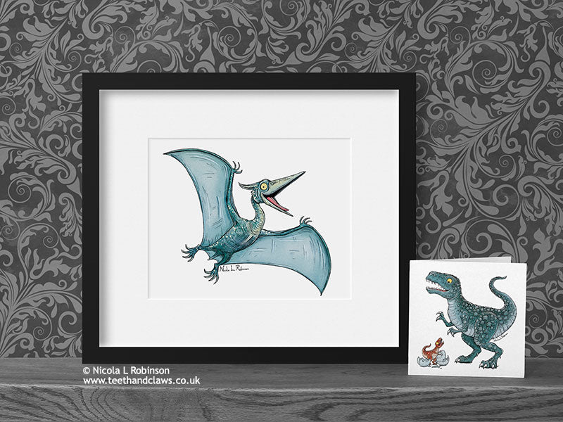 Pteranodon Art Print - © Nicola L Robinson | Teeth and Claws www.teethandclaws.co.uk