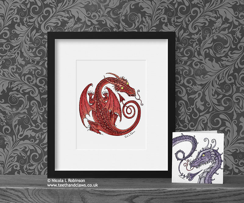 Red Dragon - Celtic Dragon © Nicola L Robinson | Teeth and Claws www.teethandclaws.co.uk