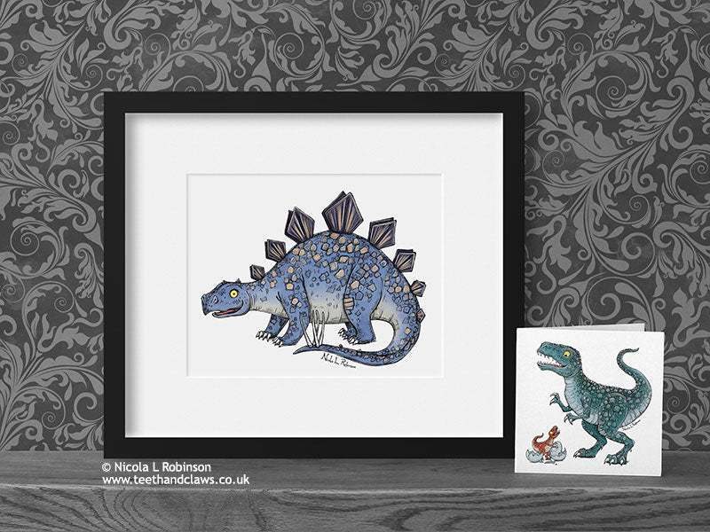Stegosaurus - Dinosaur Art Print - © Nicola L Robinson | Teeth and Claws www.teethandclaws.co.uk