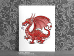 Red Welsh Dragon Art Print © Nicola L Robinson | Teeth and Claws www.teethandclaws.co.uk