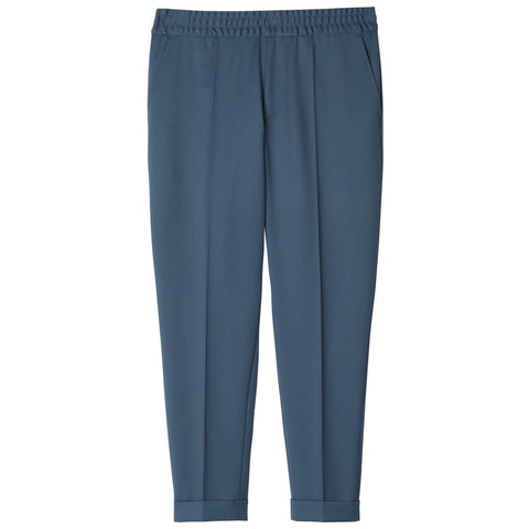Filippa K Terry Cropped Bukser Blue Grey