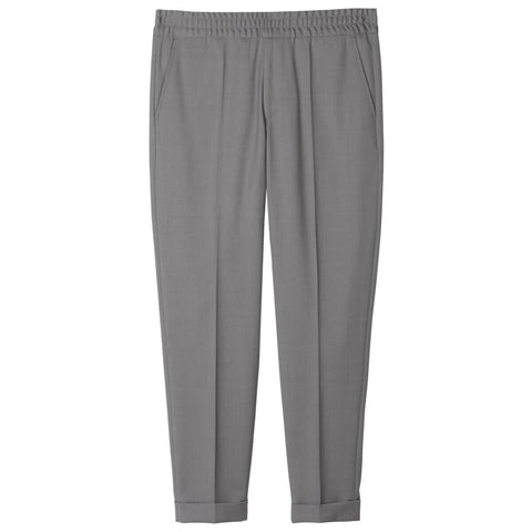 Terry Cropped Bukser Grey Melange