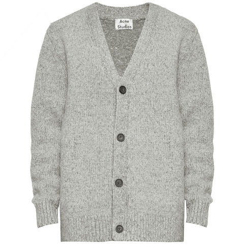 V-neck Cardigan · Grey Melange
