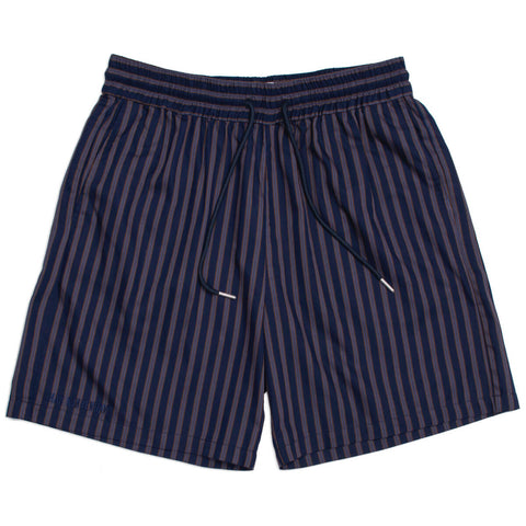 Track Navy Stripe Shorts