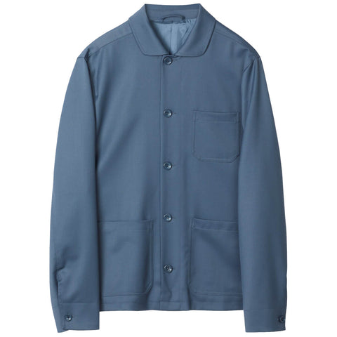 Louis Gabardine Jakke Blue Grey