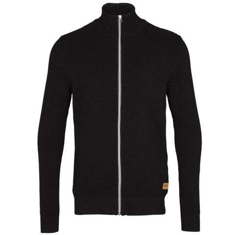 Erik Zip Cardigan · Sort