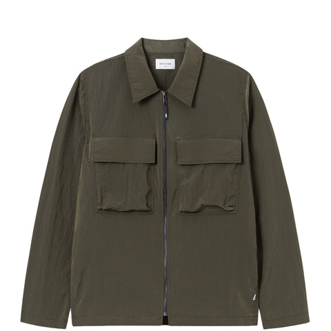 Egon Nylon zip shirt · Olive