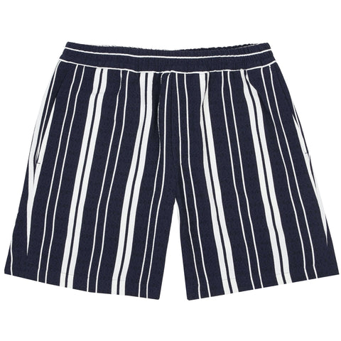 Front Shorts Navy Stripes