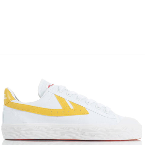 Iconic Basketball Sneaker White/Yellow Shanghai Warriors