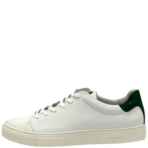 20413 Læder Sneakers White/Green