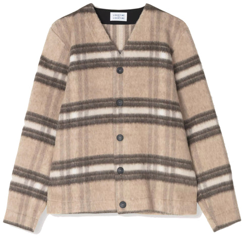 Trust Cardigan · Light Brown Check