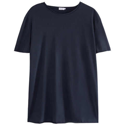 Roll Neck Tee · Navy