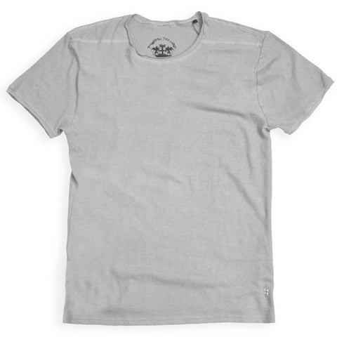 Lino T-shirt Grey - Blue De Genes