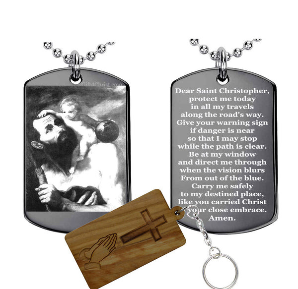 St. Christopher Traveler Prayer Pendant