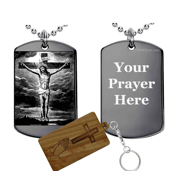 Jesus Crucified Custom Made Your Prayer-Pendant