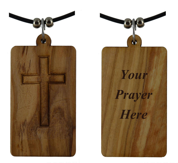 Olive Wood Custom Made Your Prayer-Pendant
