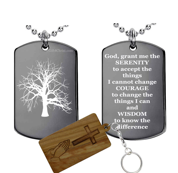 Serenity Prayer and Tree Of Life  Pendant