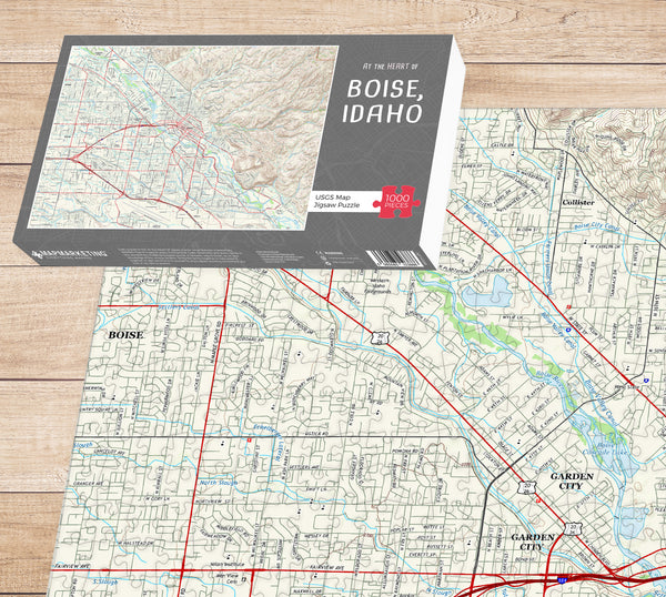 At The Heart Of... Boise, Idaho Map Jigsaw Puzzle