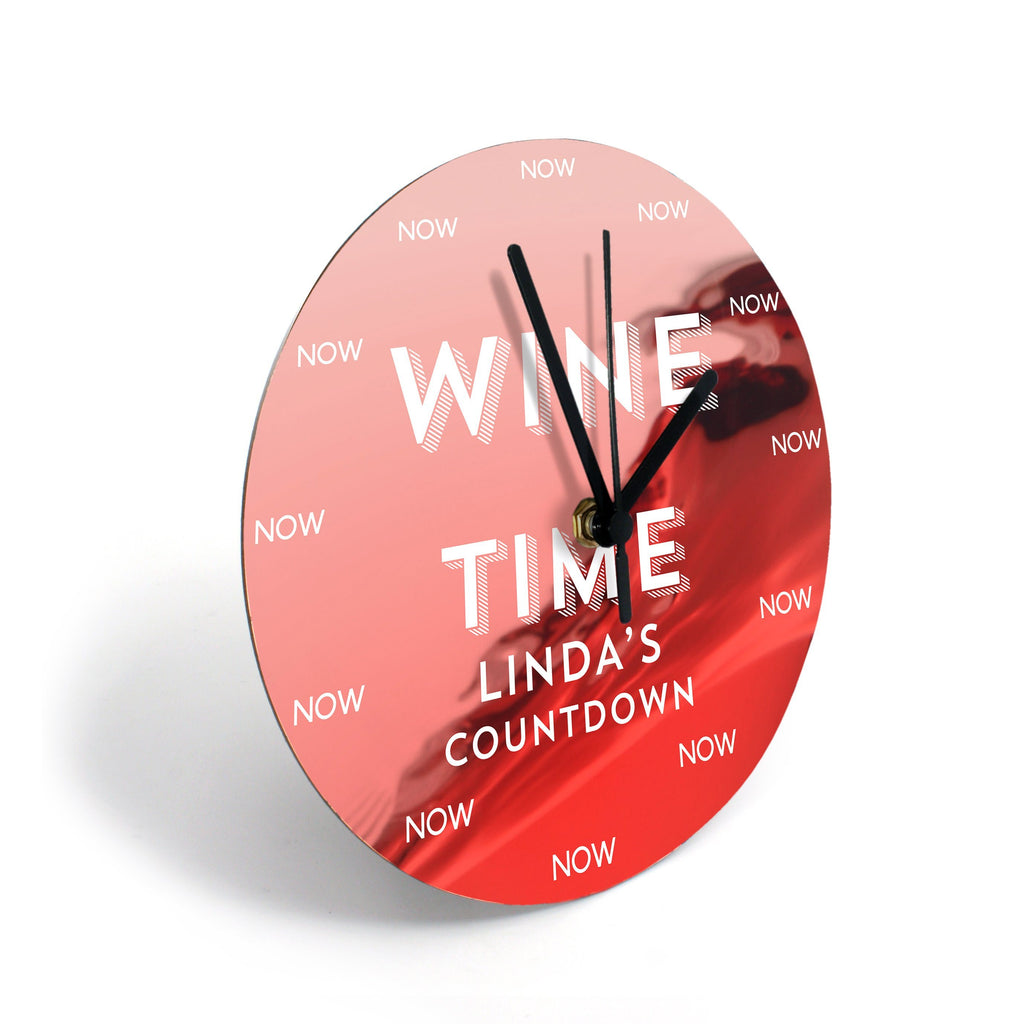 Clocks - Booze Clocks - Personalized With A Name
