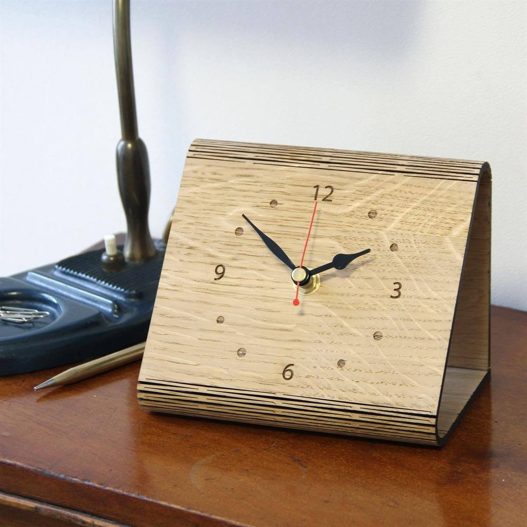 Clocks - Living Hinge Personalised Wooden Clock