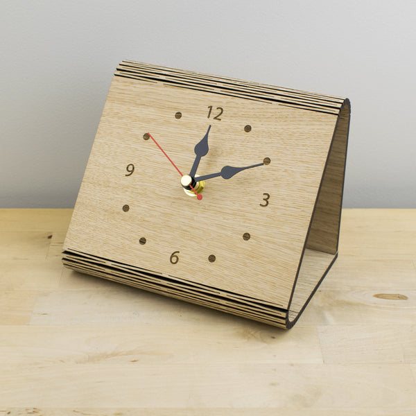 Clocks - National Geographic Living Hinge Wooden Clock National Geographic Living Hinge Wooden Clock