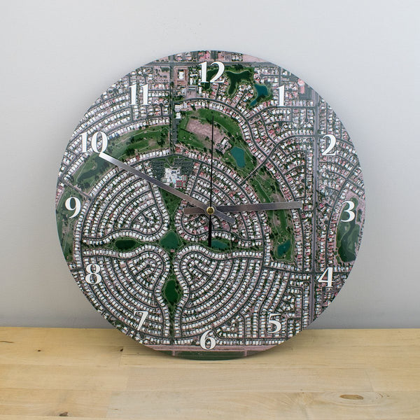 Clocks - National Geographic Personalized Aerial Map Clock