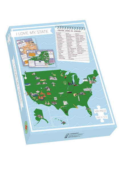 California - I Love My State 400 Piece Personalized Jigsaw Puzzle
