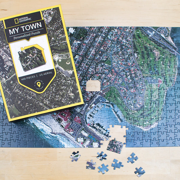 "Jigsaw Puzzle - National Geographic ""My Town"" Aerial Map Jigsaw Puzzle"