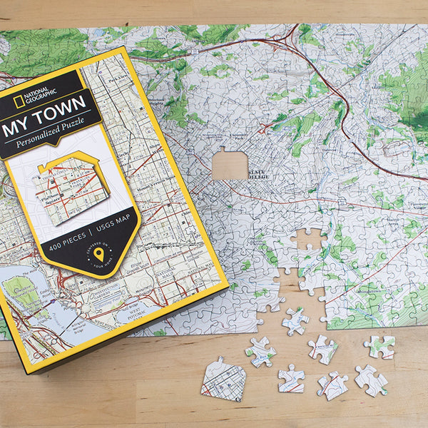 "National Geographic ""My Town"" USGS Map Jigsaw Puzzle"